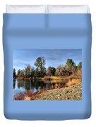 January Bass Pond 2012 Duvet Cover