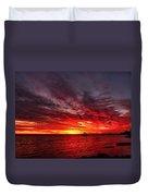 January Sunset Duvet Cover