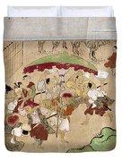 Japan: Peasants, C1575 Duvet Cover