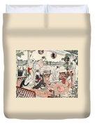 Japan: Restaurant, C1786 Duvet Cover