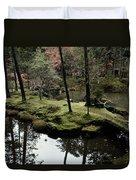 Japanese Garden At Saihoji Temple Duvet Cover