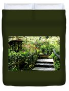 Japanese Garden Retreat Duvet Cover