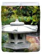 Japanese Garden Stone Snow Lantern Duvet Cover