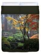 Japanese Gardens Fall Duvet Cover