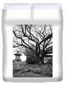 Japanese Lantern And Tree - Liliuokalani Park - Hilo Hawaii Duvet Cover