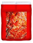 Japanese Maple Leaves 12 In The Fall Duvet Cover