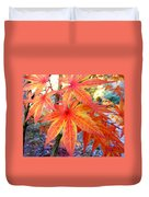 Japanese Maple Leaves 13 In The Fall Duvet Cover