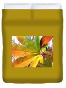 Japanese Maple Leaves 7 In The Fall Duvet Cover