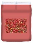 Japanese Red Maple Leaves Duvet Cover