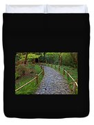 Japanese Tea Garden Path Duvet Cover