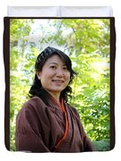 Japanese Women Duvet Cover