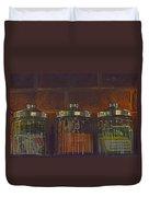 Jars Of Assorted Teas Duvet Cover