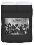 Jefferson Davis, Cabinet Duvet Cover by Photo Researchers