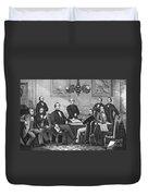 Jefferson Davis, Cabinet Duvet Cover by Photo Researchers