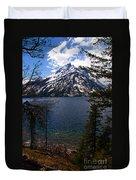 Jenny Lake In The Grand Teton Area Duvet Cover