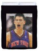 Jeremy Lin Mosaic Duvet Cover by Paul Van Scott