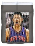 Jeremy Lin Mosaic Duvet Cover by Paul Van Scott