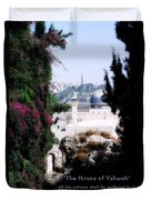 Jerusalem Throne Of Yahweh Duvet Cover