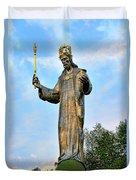 Jesus Christ Statue Duvet Cover