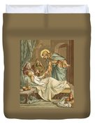 Jesus Raising Jairus's Daughter Duvet Cover