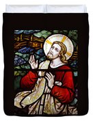 Jesus Stained Glass Duvet Cover