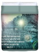 Jesus The Light Of The World Duvet Cover