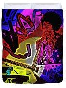 Jimi Hendrix Number 22 Duvet Cover