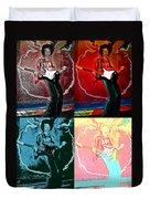 Jimmy Hendrix Pop Duvet Cover