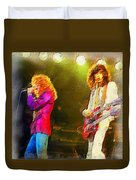 Jimmy Page And Robert Plant Duvet Cover