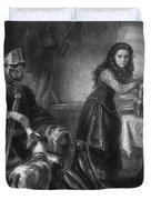 Joan Of Arc, French National Heroine Duvet Cover