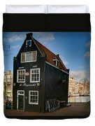 Jodenbreestraat 1. Amsterdam Duvet Cover