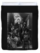 John Brown Meeting Slave Mother Duvet Cover by Photo Researchers