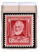 John Greenleaf Whittier Postage Stamp Duvet Cover