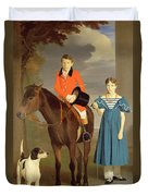 John Gubbins Newton And His Sister Mary Duvet Cover