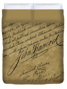 John Hancocks Signature Duvet Cover