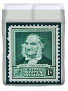 John James Audubon Postage Stamp Duvet Cover