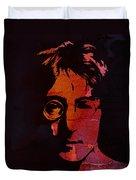 John Lennon Watercolor Duvet Cover