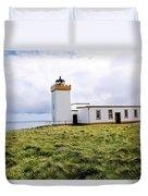 John O Groats Lighthouse Duvet Cover