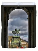 John Of Saxony Monument - Dresden Theatre Square Duvet Cover