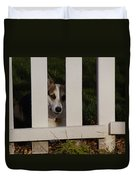 Johnny And The Picket Fence Duvet Cover