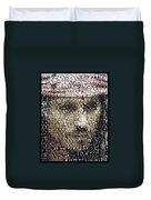 Johnny Depp Jack Sparrow Mosaic Duvet Cover