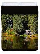 Johnny Sack Cabin II Duvet Cover by Robert Bales