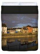 Johns Quay & River Nore, Kilkenny City Duvet Cover
