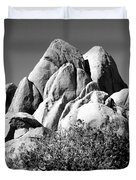 Joshua Tree Center Bw Duvet Cover