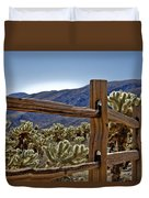 Joshua Tree Cholla Garden Duvet Cover