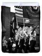 Jrotc Carrying Flag In The Parade Duvet Cover