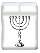 Judaism: Menorah Duvet Cover