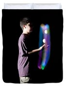 Juggling Light-up Balls Duvet Cover