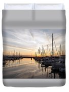 July Evening In The Marina Duvet Cover