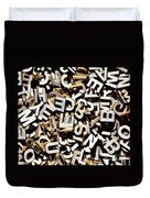 Jumbled Letters Duvet Cover